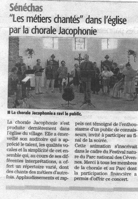 article Midi Libre Sénéchas 201407