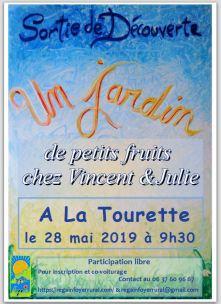 Affiche jardin petits fruits