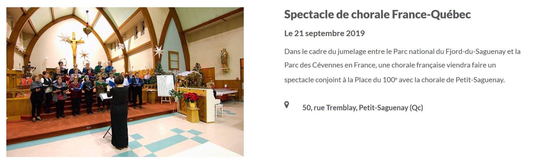 Chorale à Petit-Saguenay